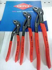 KNIPEX:3 Pinze COBRA-3pz.mm.180+mm.250+mm.300-Regolazione RAPIDA con Pulsante !