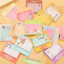 2pc Cute Cartoon Animal Sticky Note Memo Pad Notebook Label Stationery Gi  mf