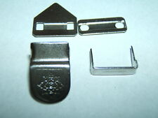 2 SETS QUALITY HOOK BAR FASTENER 8 PARTS IN ALL TROUSER SKIRT WAIST TUNIC CHROME