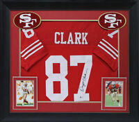 49ers Dwight Clark Authentic Signed Red Framed Jersey Autographed BAS Witnessed