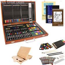 82 Piece Art Kit Beginner Drawing Coloring Set Wood Desk Easel Variety Supplies