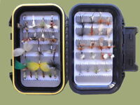 Early Season Trout Flies, 40 Boxed Set, Great for Rivers, named in description
