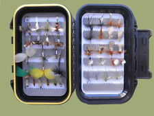 40 Early Season River Trout Fishing Flies, Mayflies,Klinks,Nymph Etc, Boxed Set