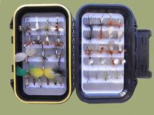 40 Early Season River Trout Fishing Flies, Mayflies,Klinks,Nymph Etc, Boxed Set