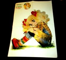 VINTAGE RARE GREEK GIANT POSTER - CANDY CANDY - FROM 80s