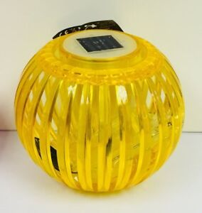 Yellow Large Eclipse Solar Squat Carry Lantern  Colour Changing Or White LED