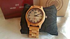 GV Sport Design Armband Uhr Holzuhr Herren Uhr Olivenholz (GV22)