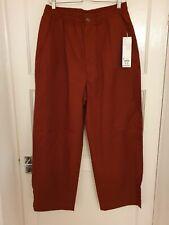 Uniqlo U Relaxed Wide Fit Trousers Dark Orange - Medium