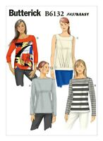 Misses Knit Top 14-22 Plus Butterick Pattern B6132 New Uncut Very Easy