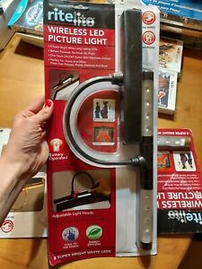 Rite Lite RiteLite Wireless LED Picture Light CHOOSE GOLD OR BLACK READ