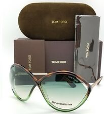 New Tom Ford Liora sunglasses TF0528 56W 70mm Havana Green Gradient AUTHENTIC TF