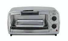 Oster Toaster Oven - 1000 W - Toast, Broil, Bake, Bagel, Roast - Brushed