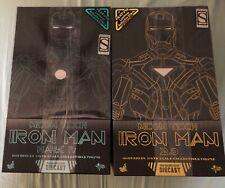 Hot Toys Iron Man 2 Neon Tech Iron Man Mark IV 1/6th Scale SDCC 2.0 Blue Yellow