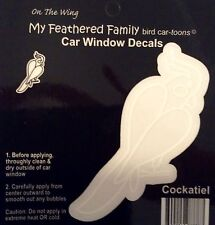 COCKATIEL  Parrot BIRD STICKER Window Car Decal Cartoon