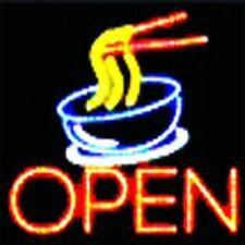 Ultra Bright Led Neon Light Animated Motion Pho Noodle Open Business Sign L63