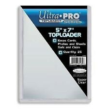 "Ultra Pro Toploader (5"" x 7"") - Pack of 25 5x7 Photo Postcard Protector Top Load"