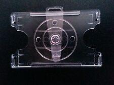 Clip on or Lanyard Badge ID POS Card Holder  Adjustable Vertical / Horizontal