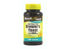 100 TABLETS BREWERS YEAST 680 mg 10.5 GRAIN ENERGY LOWER GLUCOSE SUGAR BREWER'S