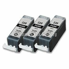 3 PGI-220 BK BLACK PGI-220BK Ink Tank for Canon Printer Pixma iP3600 iP4600 NEW