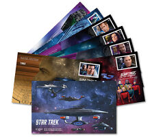 STAR TREK 50TH -YEAR 2 ISSUE -SEALED SET OF 7 FIRST DAY COVERS -CANADA 2017 MINT