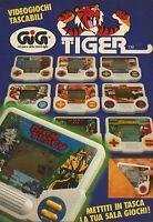 X4048 Videogiochi tascabili Tiger - GIG - Pubblicità 1991 - Advertising