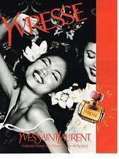 PUBLICITE ADVERTISING 094  1996  YVES SAINT LAURENT  parfum YVRESSE