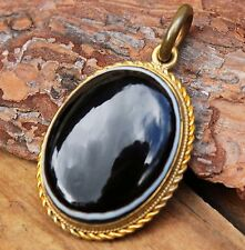 Antique Locket Pendant Mourning Bullseye Agate Hair Memorial Jewellery Victorian