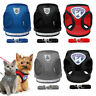 Reflective Pet Dog Harness and Leash Soft Mesh Padded Cat Walking Vest Lead S-XL
