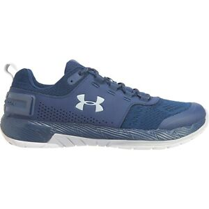 New Men`s Under Armour Commit TR EX Training Shoes Navy 3020789-401