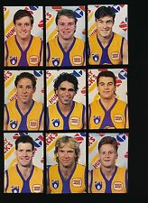 1991 Hungry Jacks SGIO West Coast Eagles set of 30 cards RARE r