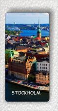 """Souvenir from Stockholm Sweden LARGE FRIDGE MAGNET 3"""" x 5""""-kty6Z"""