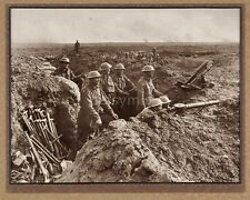 Australian Army Trenches Lewis Gun Soldiers World War 1 7x5 Inch Reprint Photo