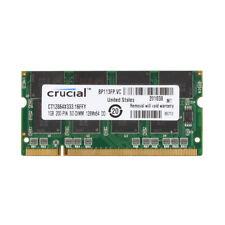 Crucial 1 GB 1G SODIMM RAM Laptop Memory PC-2700S DDR 333MHZ 2.5V Notebook @3H