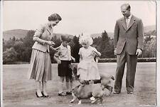Vintage Postcard Queen Elisabeth II & The Royal Family of Great Britian