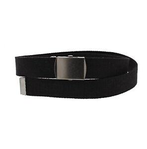 Zac's Alter Ego® Adjustable Plain Canvas Webbing Belt with Shiny Slider Buckle