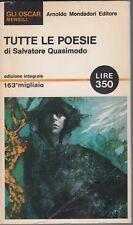 Salvatore Quasimodo, Tutte le poesie, Mondadori, poesia, 1965, Gli Oscar mensili