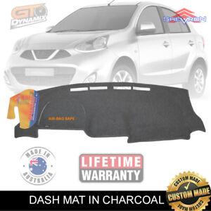 DASH MAT Nissan Micra K13 Facelift ST Ti 12/2014 to 2018 Charcoal DM1400