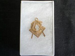 Masonic Pendant 14k Gold