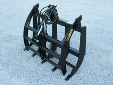 New Listing48 Compact Tractor Root Rake Clam Grapple Attachment Skid Steer Quick Attach