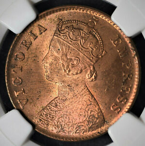 India British 1901(C) 1/4 Anna NGC MS64RB Certified