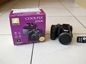 *NIKON* Purple COOLPIX B500 DIGITAL SNAPBRIDGE CAMERA Wide 40x Zoom BNIB rrp£282
