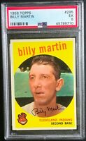 1959 Topps #295 Billy Martin Indians PSA 5 EX Nice Ships in one day Newly Graded
