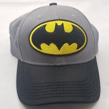Batman DC Comics Youth Gray Black Yellow Embroidered Panel Snapback Hat Cap