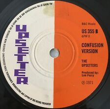 "THE INSPIRATIONS ~ Confusion ~ UPSETTER US355 GPW1 1971 7"" EX + Lee Perry"