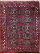 Rugstc 5x8  Bokhara Jaldar Red Area Rug,Genuine Hand-Knotted, Wool Pile