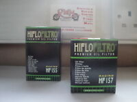 KTM 400,450 / 520 / 525  SX 1st / 2nd  HIFLOFILTRO OIL FILTERS HF155 / HF157