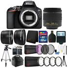 Nikon D3500 24.2MP DSLR Camera +  18-55mm Lens + 55mm Accessory Kit