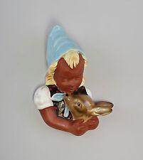 7945021 Keramik Wandmaske Art déco Cortendorf Mod. 3466 Mädchen mit Reh