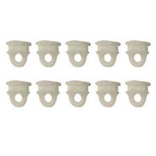 Ganci Scorrevoli in Nylon per Binario in PVC e Alluminio Colore Bianco 10 Pezzi