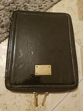 MK Michael Kors Tablet Cover Case Patent Leather Black 10x8 Pull out on back